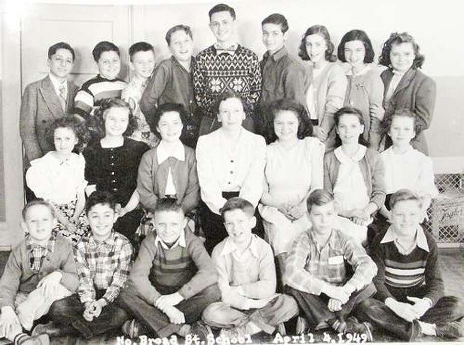 Students from a 1949 North Broad Street class.