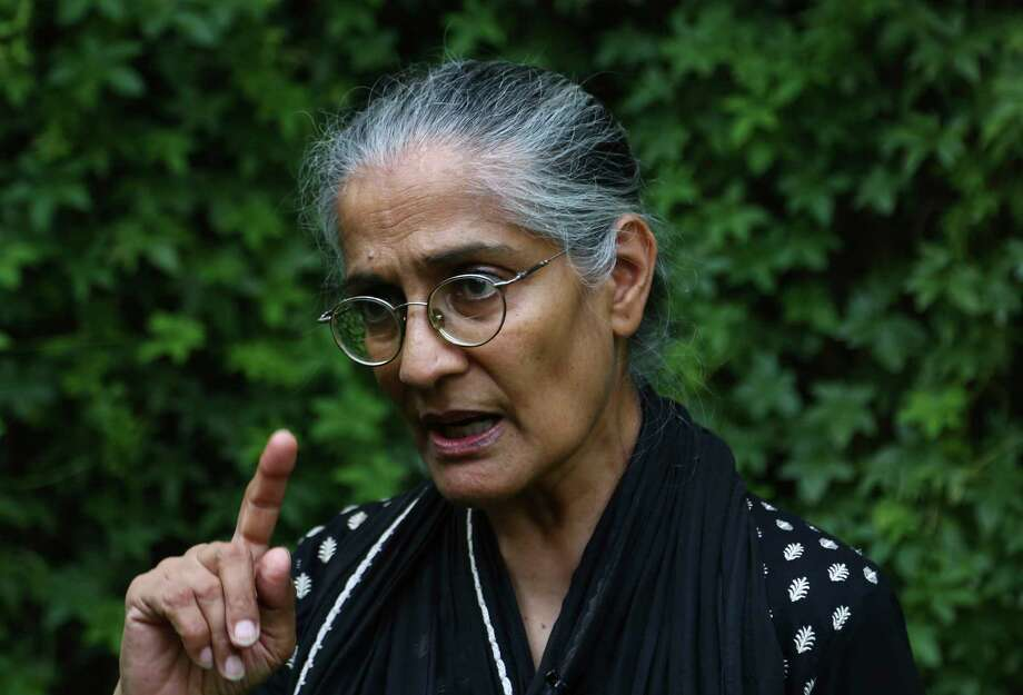 Pakistani human right activist Tahira Abdullah condemned the rapes and said that what the council did was illegal.  Photo: B.K. Bangash, STF / Copyright 2017 The Associated Press. All rights reserved.