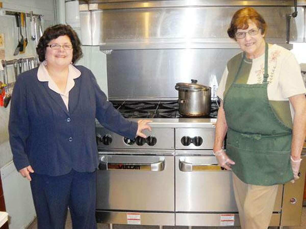 Photo Courtesy HAZEL CARPENTER HOME From left are Betty Lyboult, administrator and Mary Hull, kitchen supervisor, of the Hazel L. Carpenter Home.