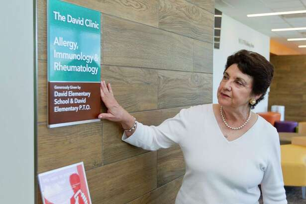 Carol Ann Demaret talks about the legacy of her son David Vetter in The David Clinic at Texas Children's Hospital The Woodlands, Thursday, July 27, 2017.  The clinic, which houses allergy, immunology and rheumatology services, was named after Demaret's son, who was known as the 'boy in the bubble,' after being born with severe combined immunodeficiency in 1971. U.S. Congressman Kevin Brady, R-The Woodlands, has introduced H.R. 3178, which would give people with immunodeficiency disease the ability to receive intravenous immunoglobulin treatments in their homes through an expansion of a Medicare pilot program.