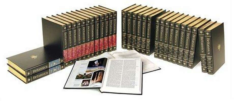 This undated photo provided by Chicago-based Encyclopaedia Britannica, shows the 2010 32-volume final print edition of the Encyclopaedia Britannica. Three weeks after announcing it will discontinue its print editions after 244 years, people have been scrambling to buy the last edition. A spokesman says all but 800 of the last 4,000 sets have been sold. (AP Photo/Courtesy Encyclopaedia Britannica) Photo: ASSOCIATED PRESS / AP2004
