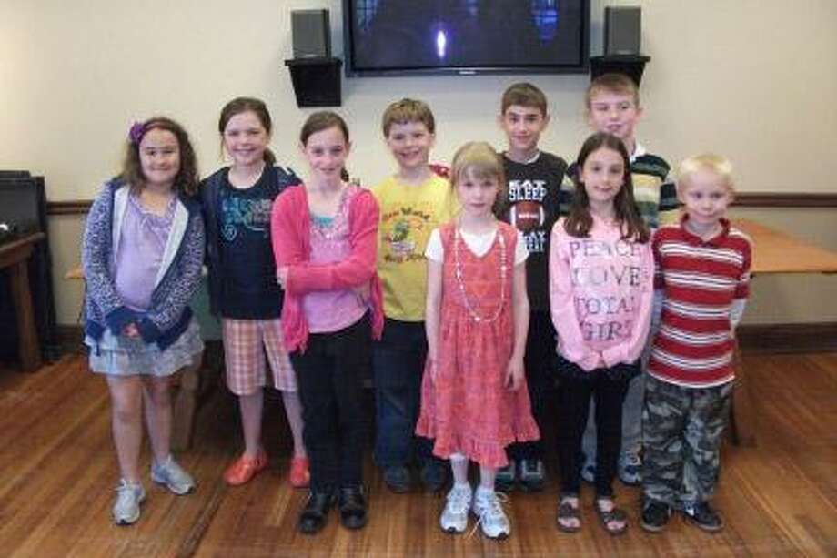 Submitted PhotoThe third annual Chenango Valley Scribes Writing and Illustrating Contest awards ceremony was held in the Colgate University BookstoreÕs Community Room recently. Pictured are nine of the fourteen children who entered the contest. All received special certificates and laminated bookmarks picturing their original illustrations.