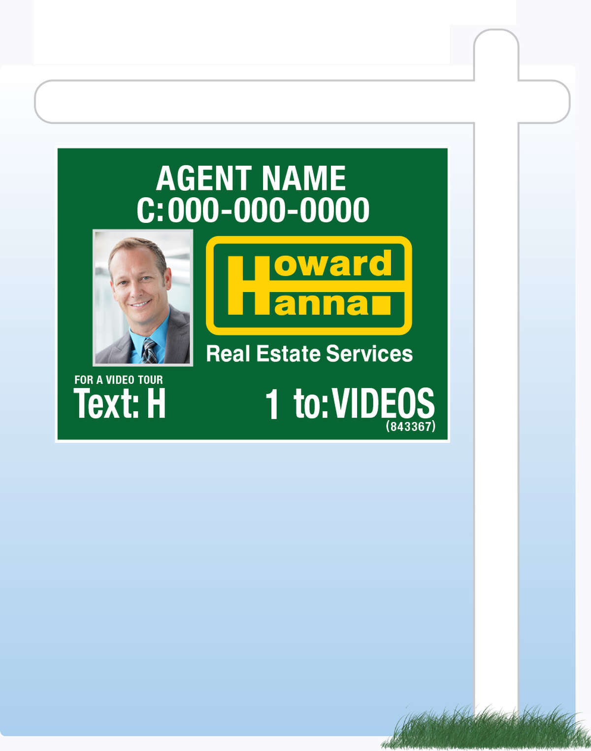 The red and white RealtyUSA signs around the Capital Region will be swapped for green and gold Howard Hanna signs in the fall. (Photo provided)