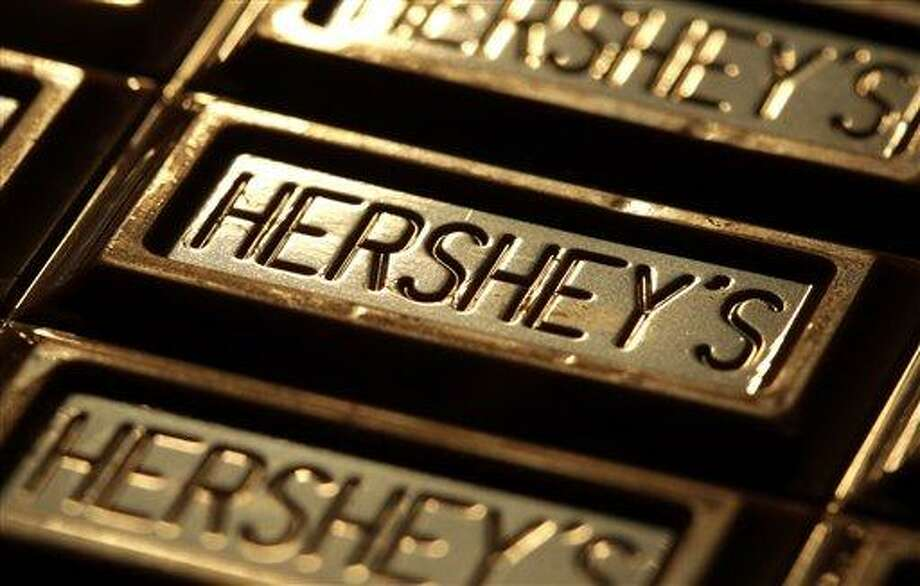 This July 25, 201,1 photo shows Hershey's chocolate in Overland Park, Kan. The Hershey Co. plans to invest $10 million in the Ivory Coast, a key source of cocoa. Associated Press Photo: AP / AP