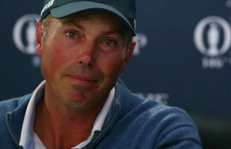 Runner up Matt Kuchar of the United States speaks during a press conference after the British Open Golf Championship, at Royal Birkdale, Southport, England, Sunday July 23, 2017. (AP Photo/Dave Thompson) ORG XMIT: RBD263 Photo: Dave Thompson / Copyright 2017 The Associated Press. All rights reserved.