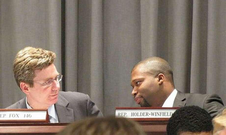 Judiciary Committee Co-Chair Rep. Gerald Fox and Vice Chair Rep. Gary Holder-Winfield. Hugh McQuaid Photo