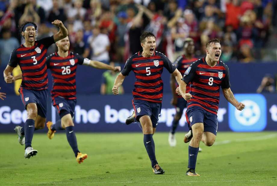 SANTA CLARA, CA - JULY 26:  Jordan Morris #8 of the United States celebrates scoring a goal against the Jamaica during the 2017 CONCACAF Gold Cup Final at Levi's Stadium on July 26, 2017 in Santa Clara, California.  (Photo by Ezra Shaw/Getty Images) ORG XMIT: 700016759 Photo: Ezra Shaw / 2017 Getty Images
