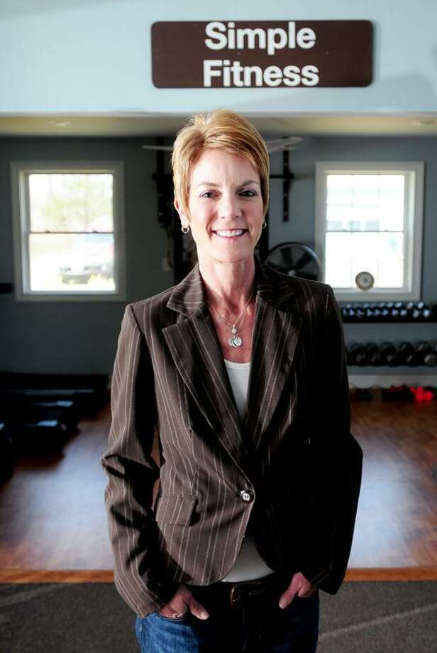 Fitness professional Heidi Shepherd is photographed at her home in Guilford. Arnold Gold/Register