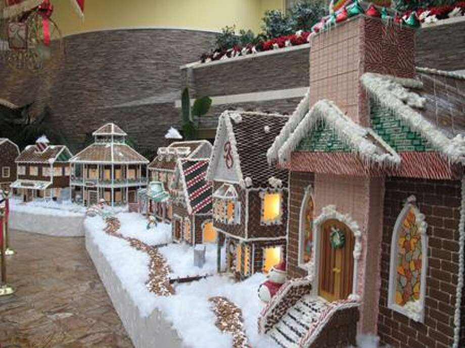 Photo courtesy ONEIDA INDIAN NATION The gingerbread village on display at Turning Stone.