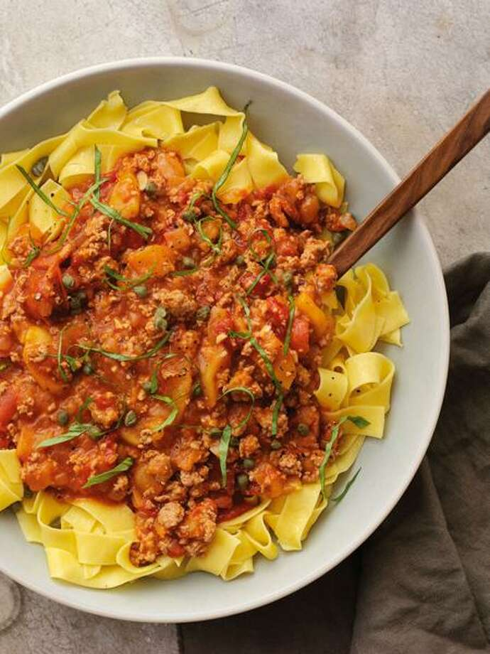 Dan Goldberg/Courtesy Chronicle Books: Apple-Pork Ragu With Pappardelle Photo: Dan Goldberg (courtesy Chronicle