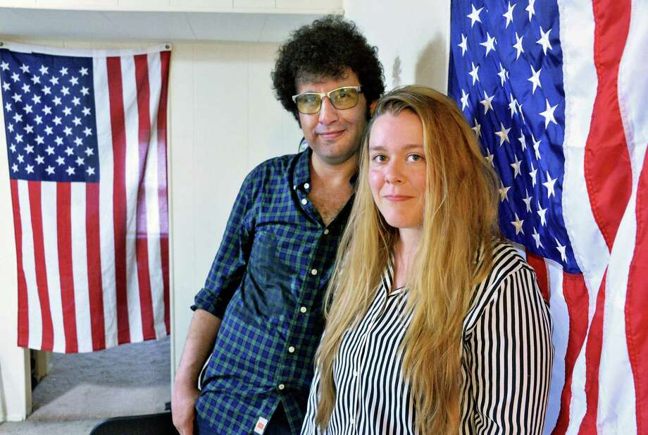 Artist David Rostambakhsh and Kerri Schultz in their apartment Friday June 30, 2017 in Colonie, NY.  (John Carl D'Annibale / Times Union) Photo: John Carl D'Annibale / 20040919A