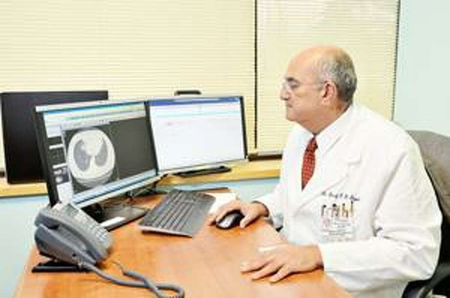 Pulmonologist and Sleep Center Medical Director, Dr. Sherif El Bayadi, reviews the results of a sleep study