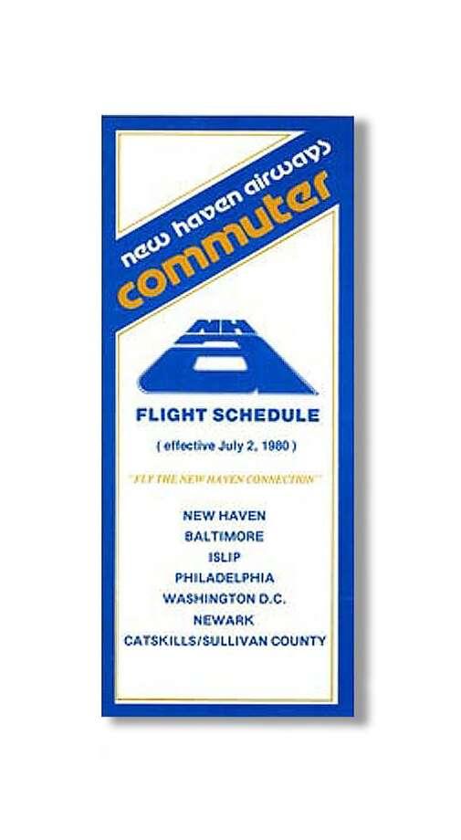 New Haven Airways flight schedule circa 1980.