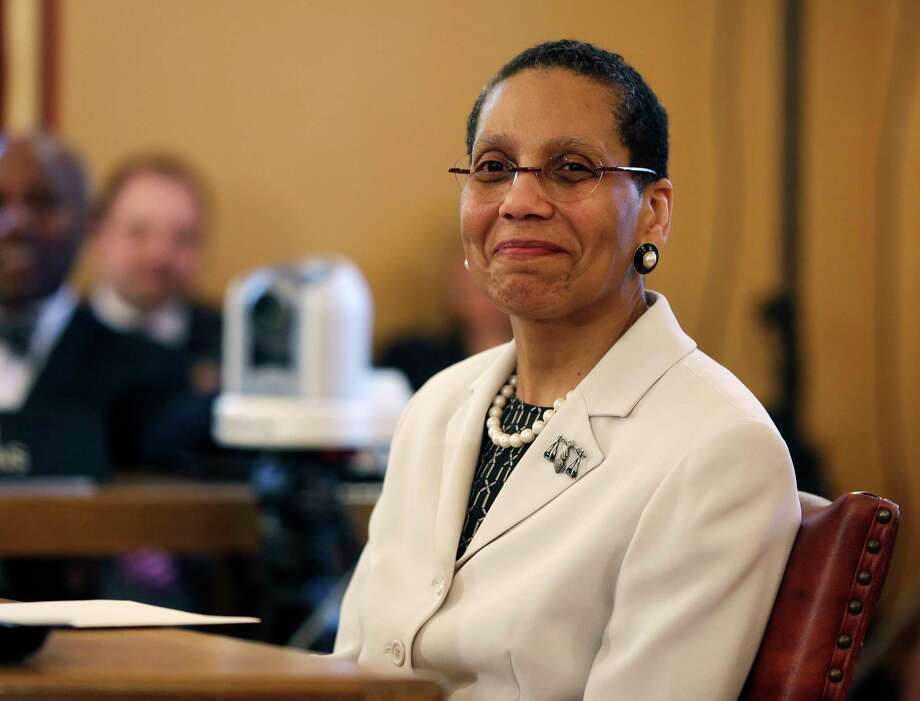 FILE - In this April 30, 2013, file photo, Justice Sheila Abdus-Salaam looks on as members of the state Senate Judiciary Committee vote unanimously to advance her nomination to fill a vacancy on the Court of Appeals at the state Capitol in Albany, N.Y. On Wednesday, July 26, 2017, the New York City Medical Examiner ruled Abdus-Salaam died by suicide in a drowning. Her body was recovered from the Hudson River by a New York Police Department Harbor Unit on April 12, 2017. (AP Photo/File, Mike Groll, File) ORG XMIT: NYR101 Photo: Mike Groll / Copyright 2017 The Associated Press. All rights reserved.