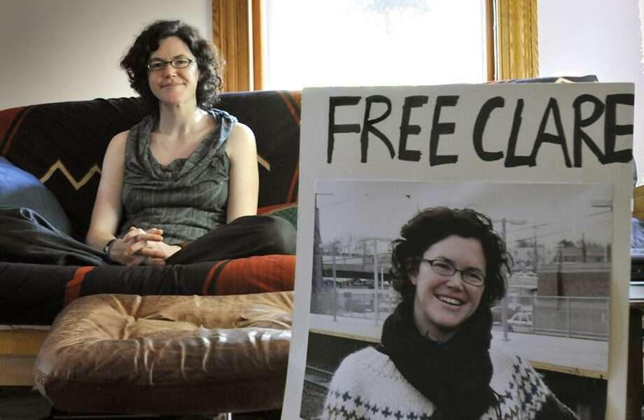 NEW HAVEN - Clare Gillis in her parents' New Haven Home. She is a journalist and was held captive in Libya. Melanie Stengel/Register