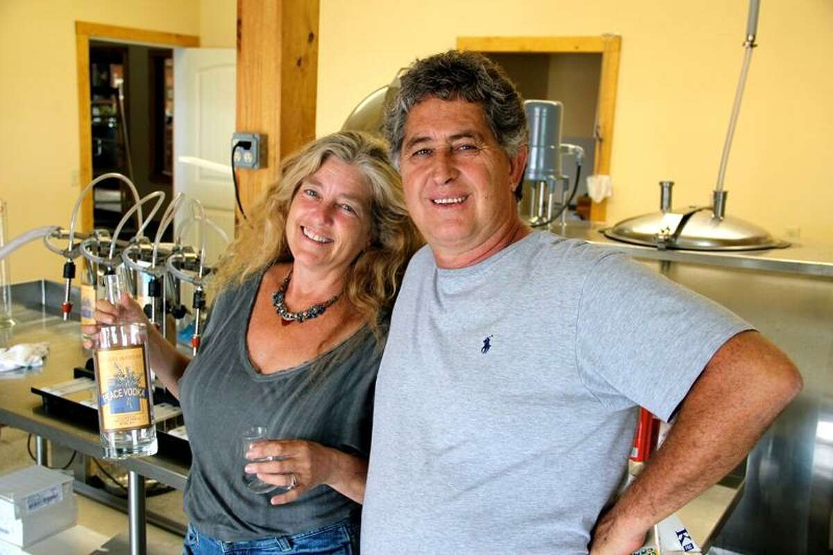 Stacy Cohen and Monte Sachs, founders of The Dancing Cat Saloon and the Catskill Distilling Co.