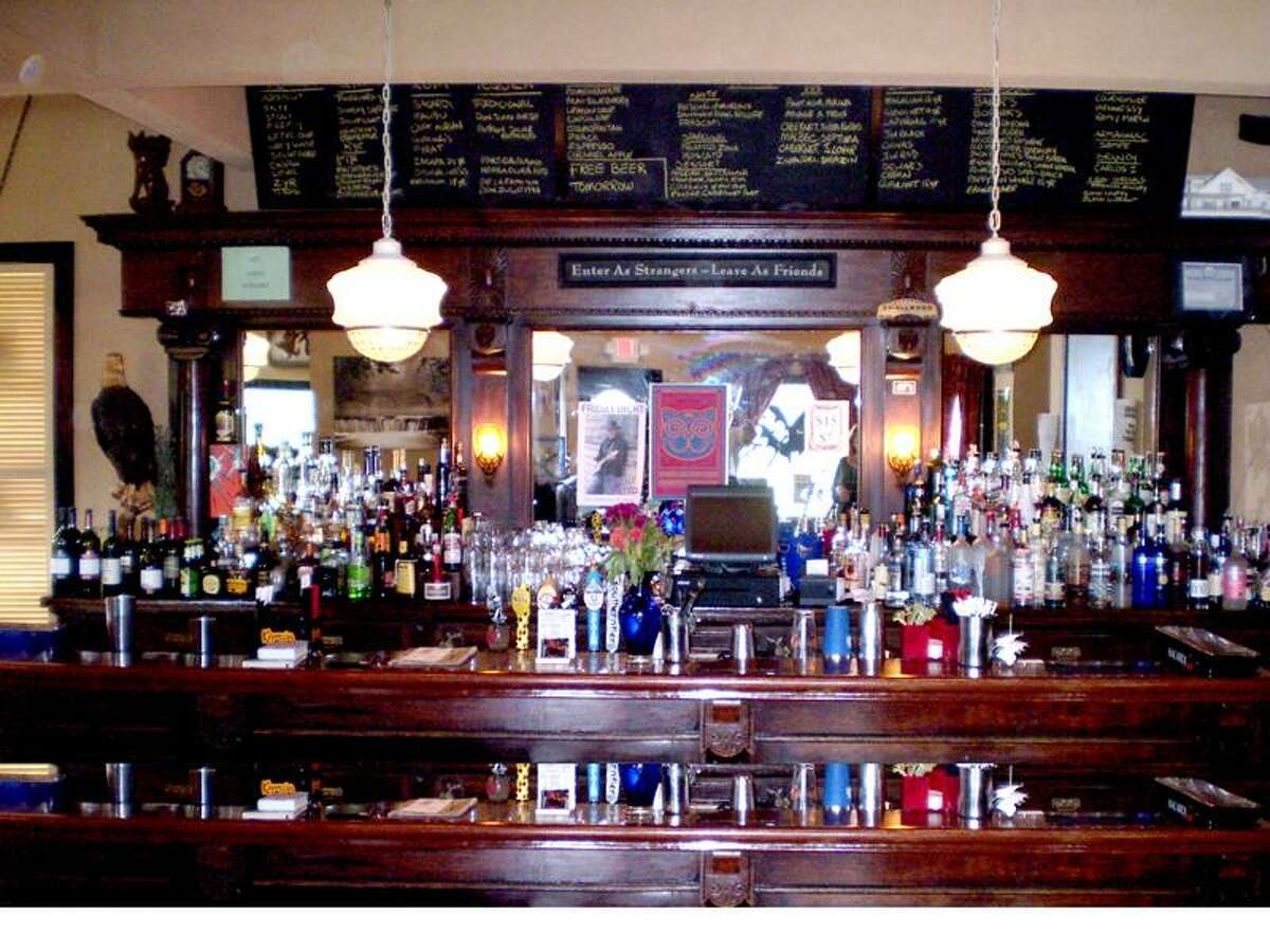 The bar that was once a focal point of 500 Blake Street.