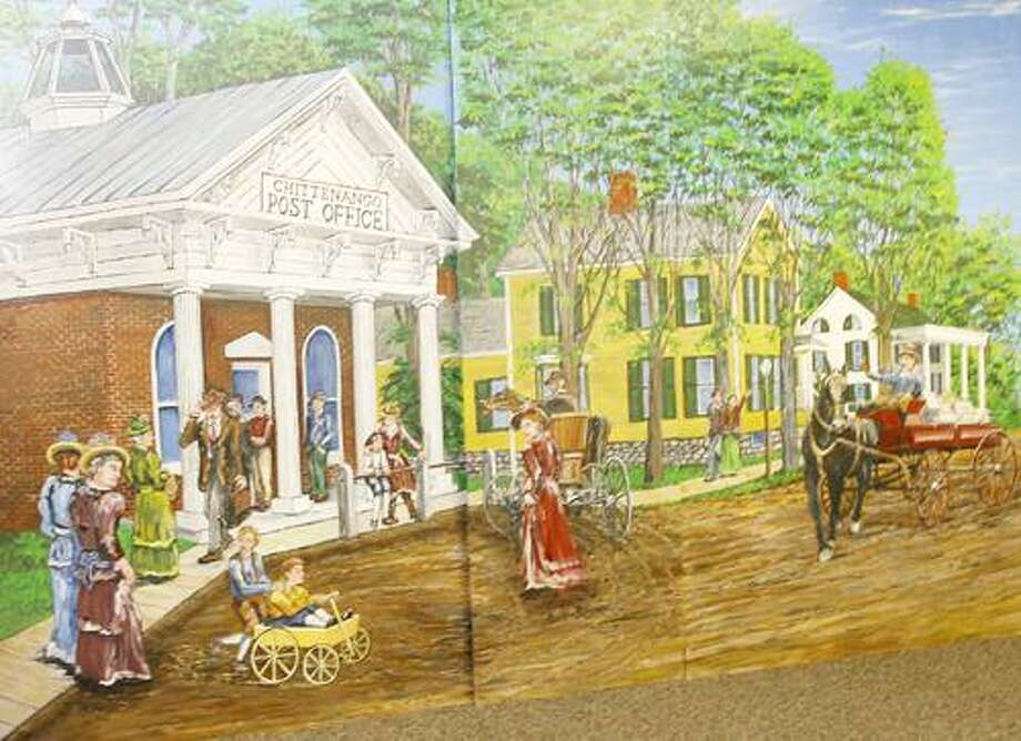 Photo by JOHN HAEGER (Twitter.com/OneidaPhoto) Panels depicting Chittenango 100 years ago on Friday Nov. 25, 2011. The murals are to be hung in the village as part of the upcoming bicentennial celebration.