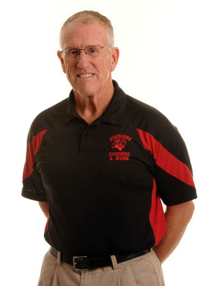 Cheshire girls' swim coach Ed Aston will retire at the end of the season, completing 37 seasons as head coach. Photo by Mara Lavitt/New Haven Register