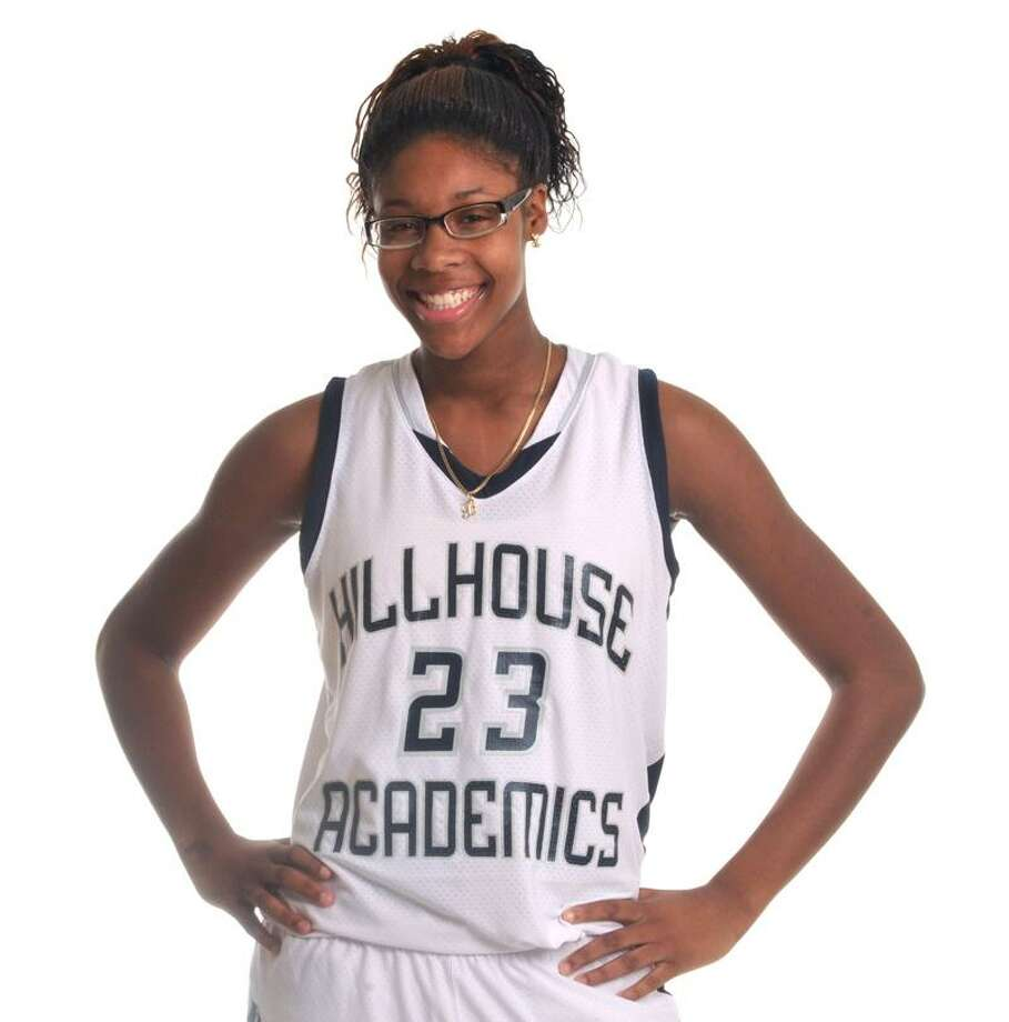 Hillhouse's Bria Holmes has orally committed to play basketball at West Virginia next season. Photo by Brad Horrigan/New Haven Register.