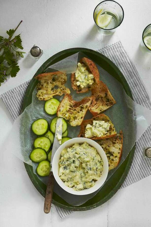 "Alex Farnum/Chronicle Books photo: Cucumber-Basil Egg Salad from ""Chicken and Egg"" by Janice Cole. Photo: Alex Farnum (courtesy Chronicle"