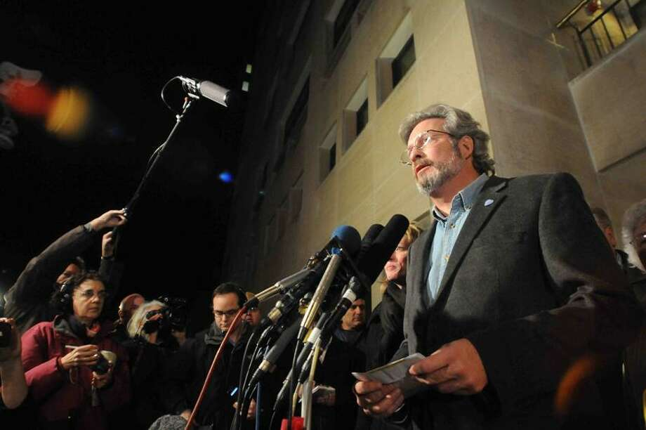 Dr. William Pettit, Jr. speaks to press  outside the New Haven Superior Court after a panel of 12 jurors  decided that Joshua Komisarjevsky  should be executed. Friday 12/9/11 for the Cheshire triple homicide on their fifth day trying to resolve the issue.  Photo by Peter Hvizdak / New Haven Register December 8, 2011