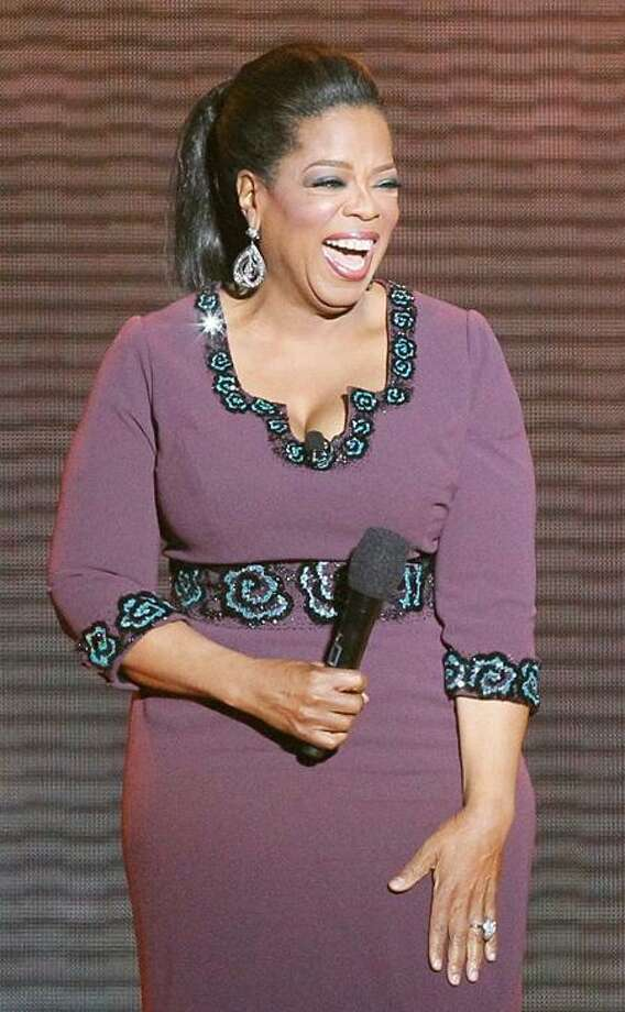 Oprah Winfrey during one of the final shows in broadcast syndication.