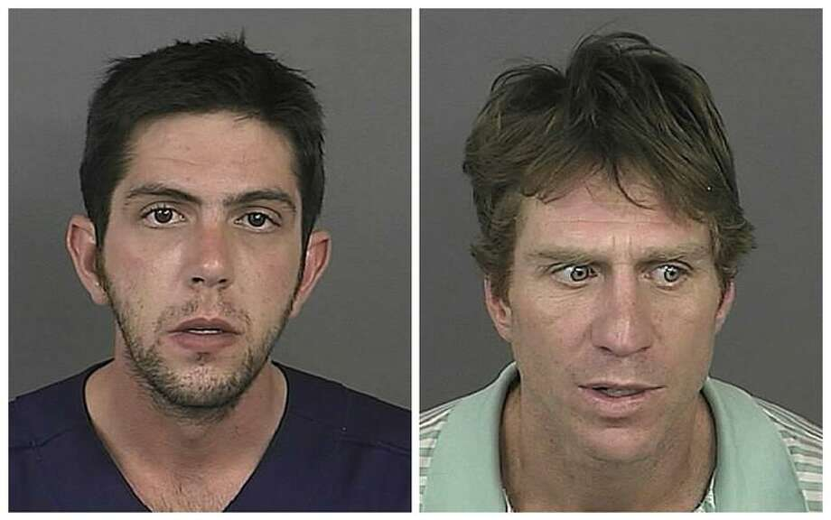 Photos provided by Denver police show Mark Rubinson, 25, left, and Robert Young, 43. Associated Press