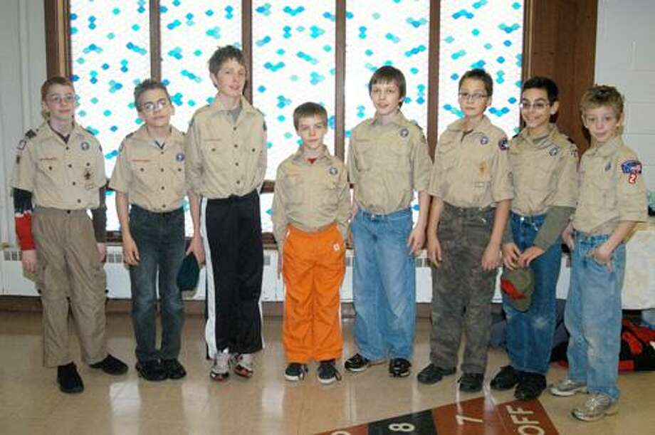 Photo by CAITLIN TRAYNOR Members of the Oneida Boys Scouts Troop 2.