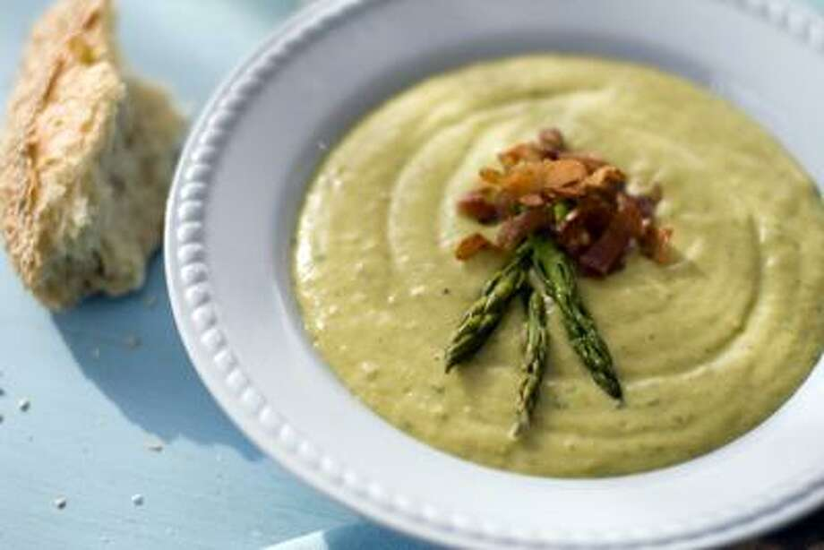 Matthew Mead/Associated Press photo: Roasted Asparagus and Potato Soup Photo: AP / ap