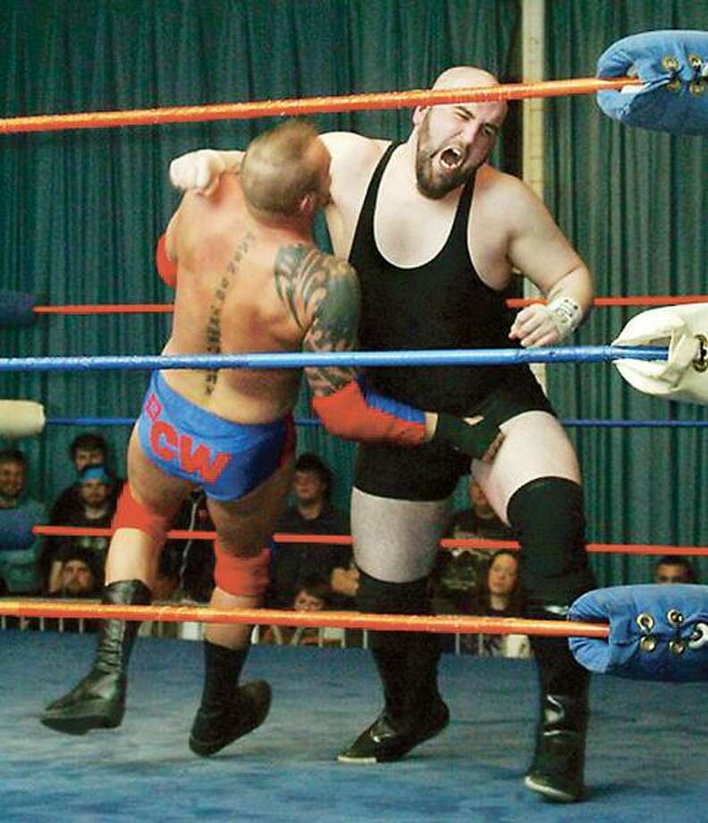 "SUBMITTED PHOTO Oneida native Mike ""Punisher"" VanSlyke will compete in the ""Rome is Burning"" wrestling event Friday, Sept. 16, 2011."