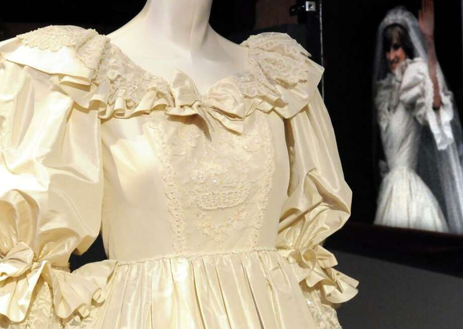 "The Foxwoods Casino exhibition hall will be the home from Sept. 16-Jan 15 of the exhibit ""Diana, A Celebration,"" the centerpiece of which is her ivory silk taffeta, lace and tulle wedding gown. Photos of Diana are sprinkled through the exhibit. Photo by Mara Lavitt/New Haven Register9/12/11"