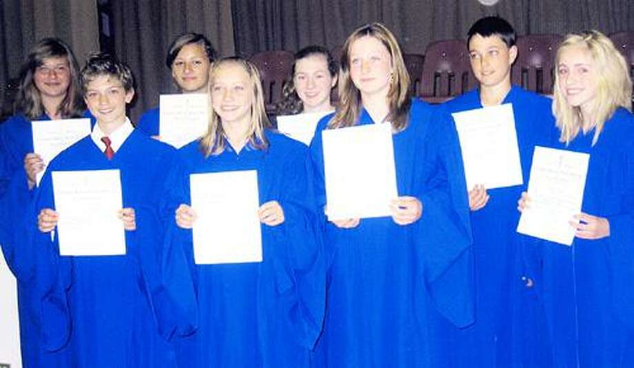 Photo Courtesy MADISON CENTRAL SCHOOL Front row from left are Gabriel Linden, Alexis Peavey, Makenna Bridge, Sydney Coon. Back row from left are Alexis Tubbs, Megan Rockhill, Katie Box and Gavin Lopata.