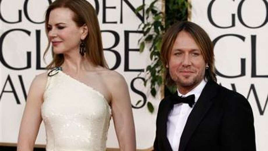 Jan. 16: Nicole Kidman and Keith Urban on the red carpet at the Golden Globe awards. (AP)