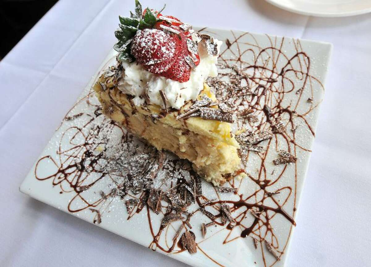 Banana Cream Pie from Michael's Trattoria in Wallingford. Michael's Trattoria, Wallingford Overall Excellence - Readers' Choice Italian- Readers' Choice Overall Value- Readers' Choice