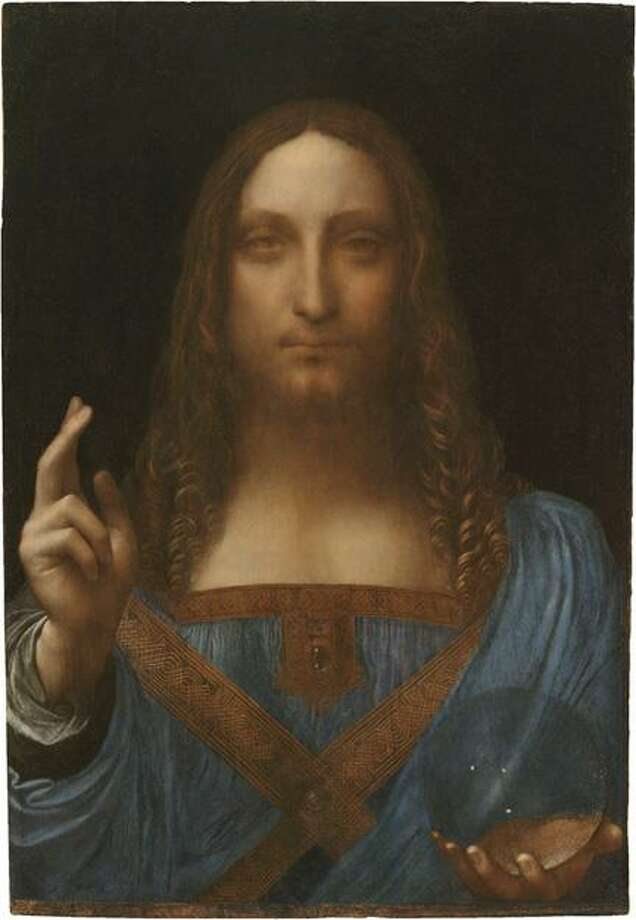 """AP Photo A painting recently authenticated as the work of Leonardo da Vinci. """"Salvator Mundi,"""" dating to around 1500, will be on display at the National Gallery in the fall as part of a larger exhibition on the Renaissance artist, the London museum said Monday. Photo: ASSOCIATED PRESS / AP2011"""