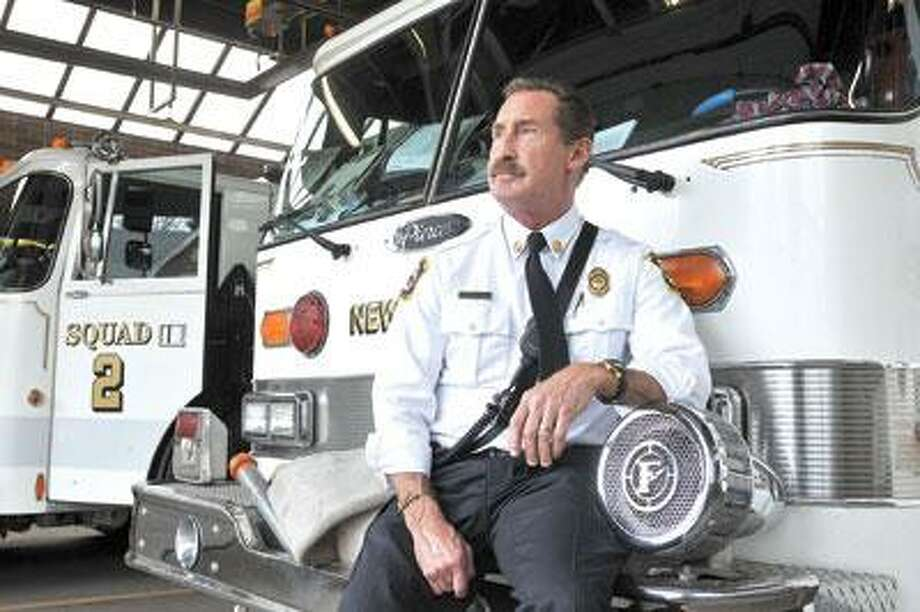 New Haven Fire Department Battalion Chief Kevin Delaney is retiring after 28 years. (Peter Casolino/Register)