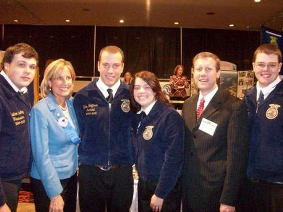Submitted PhotoPictured in photo are Vernon-Verona-Sherrill FFA members with Assemblywoman Claudia Tenney and Sen. David Valesky.