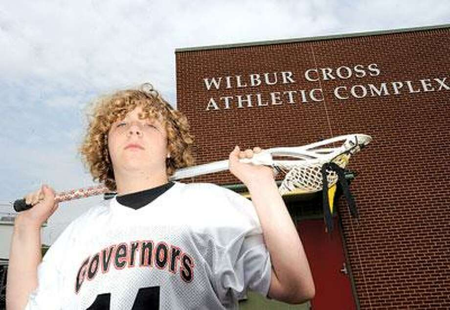 Max Pelloth can't play lacrosse because he is stuck in the CIAC twilight zone. (VM Williams/Register)