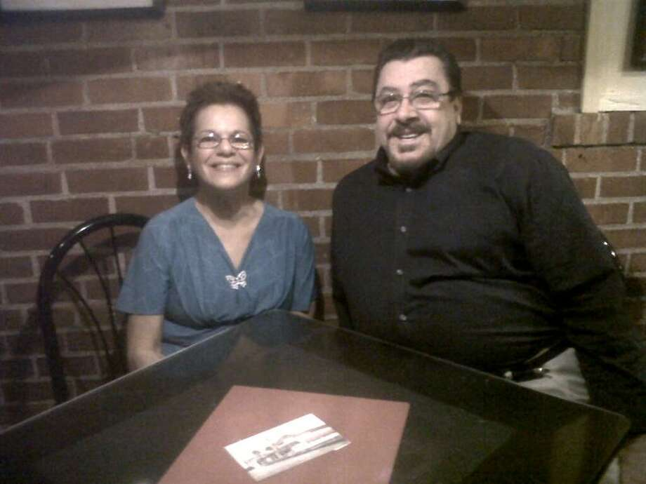 Contributed photo: Carmela Nelson of East Haven and Francis Withington of West Haven met over dinner at Savin Rock Roasting Co. in West Haven.