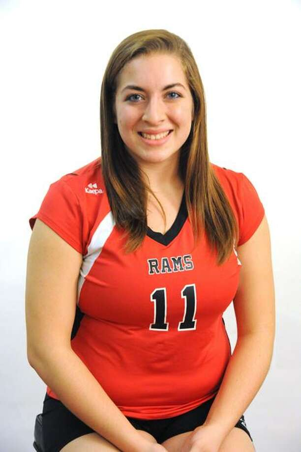 FEMALE ATHLETE OF THE WEEK: Gina Buzzelli, Cheshire, volleyball. Photo by VM Williams/Register.