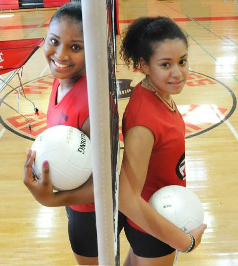 SPORTS-Wilbur Cross Volleyball Players    and  .