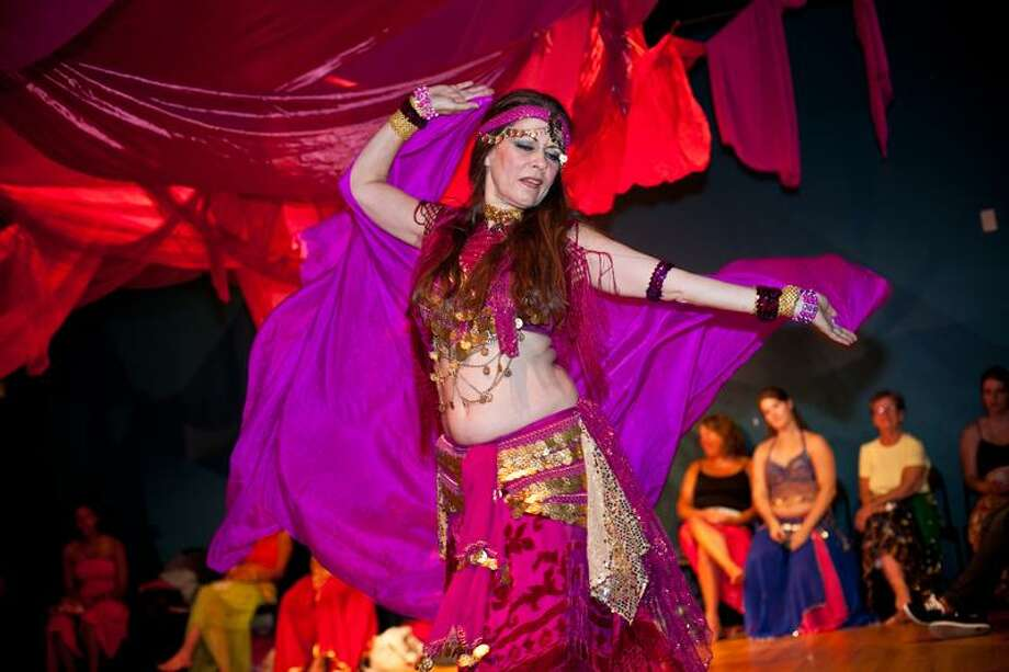 Gia Khalsa, a belly dance performer and teacher, will lead the Westbrook Parks and Recreation Department's Crimson Tent Harem Party. (contributed photo)