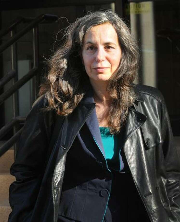 Leslie Lebowitz leaves Superior Court in New Haven Monday after testifying in the penalty phase of Joshua Komisarjevsky's murder trial. (Melanie Stengel/Register)