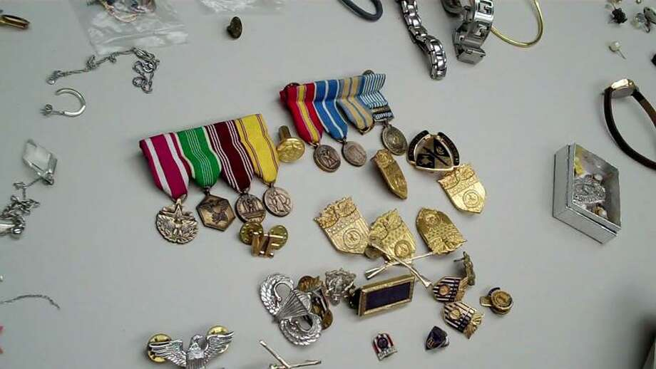 Shelton police are trying to return hundreds of pieces of jewelry found in the possession of two suspects linked to several burglaries. Contributed photo