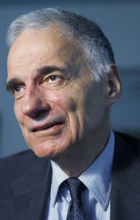 Associated Press file photo: Ralph Nader will make two appearances in the area Saturday. Photo: AP / AP2009
