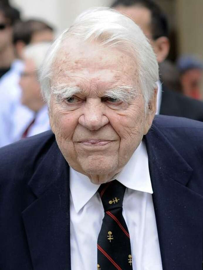 Andy Rooney in an Aug. 9, 2009, file photo Associated Press Photo: AP / AP2009