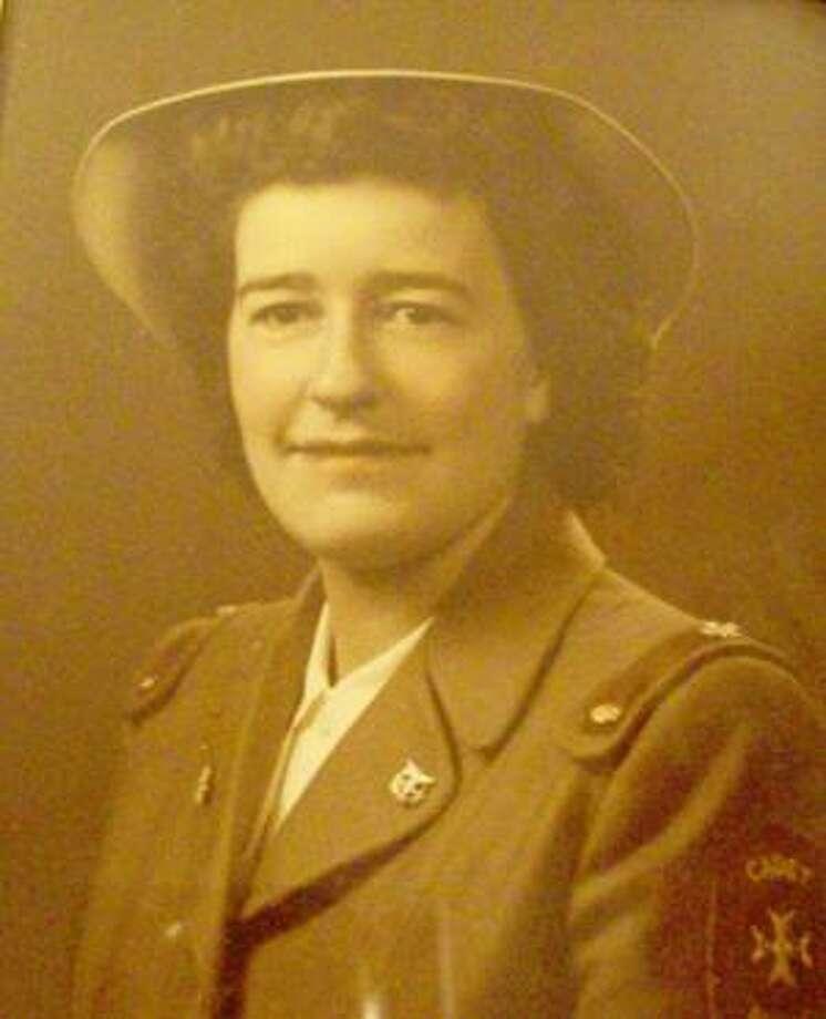 Photo courtesy of ARLENE SPECHT United States Cadet Nurse Corps member Arlene Specht of Durhamville poses in her uniform back in 1946.