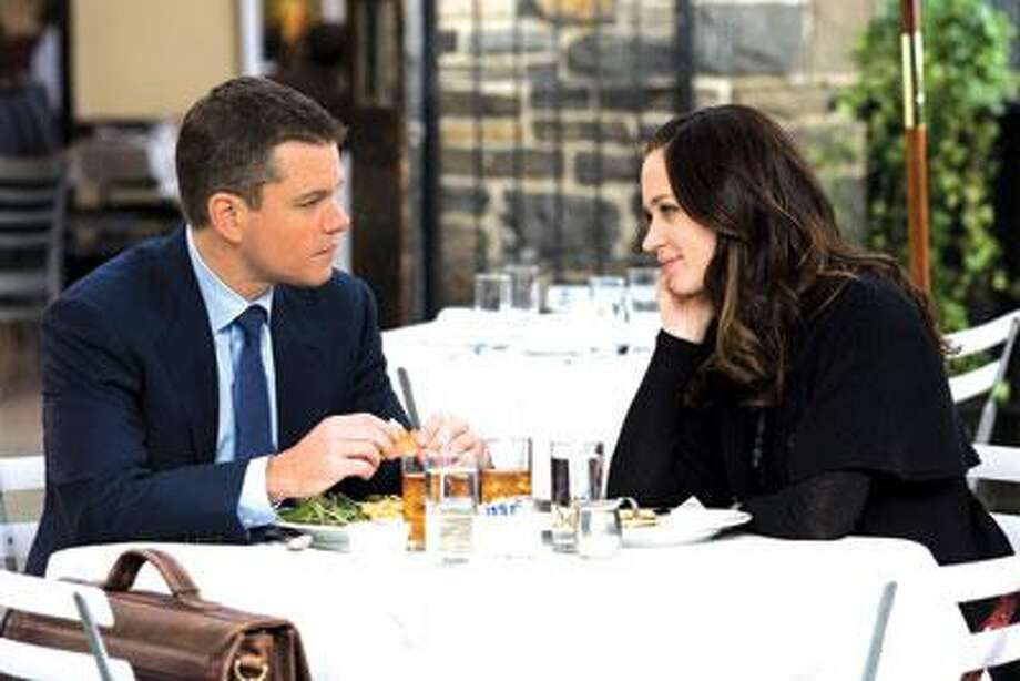 "Matt Damon and Emily Blunt star in the romantic thriller ""The Adjustment Bureau,"" which opened here Friday. (Universal)"