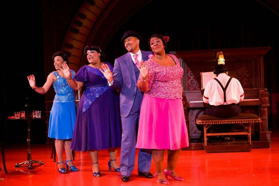 "T. Charles Erickson: The cast of Long Wharf Theatre's ""Ain't Misbehavin'"": Debra Walton, left, Cynthia Thomas, Doug Askew, Kecia Lewis-Evans and Philip Hill."